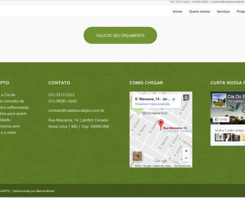 Criação de Web Site para a Cia do Eucalipto - Michel Comunicação